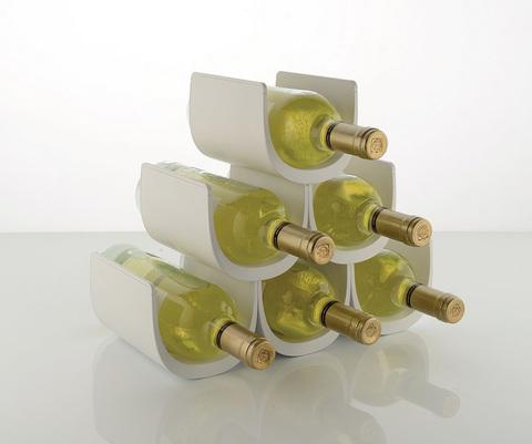 Подставка модульная для винных бутылок Noe белая