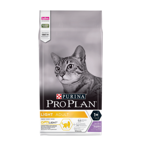 Purina Pro Plan Light Сухой корм для кошек с избыточным весом с Индейкой