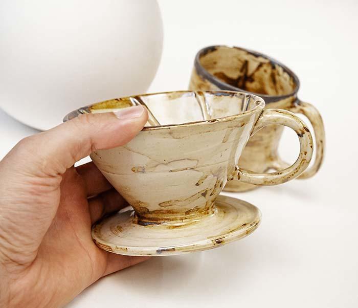 POSSET100-2 Набор керамики для заваривания кофе «Пуровер»: кружка и воронка дриппер фото 06