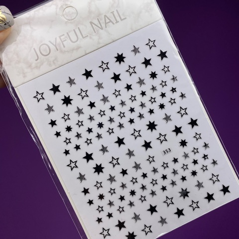 1534 Наклейки звёздочки чёрные