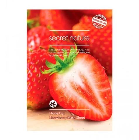 Secret Nature Маска для лица тканевая с клубникой Strawberry, 1 шт