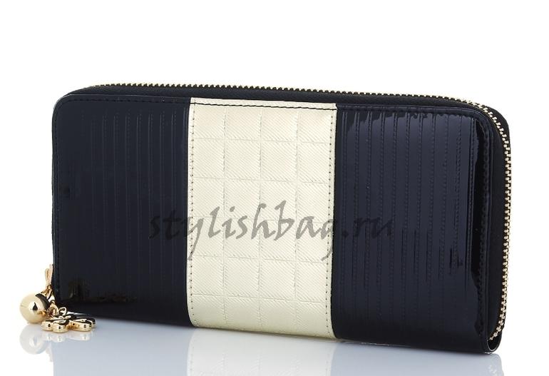 женский кошелек на молнии Sonia Rykiel 550 black в интернет магазине Stylishbag