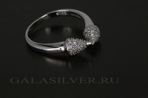 Кольцо с фианитом из серебра 925
