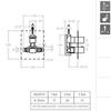 Встраиваемый термостатический смеситель для душа KUATRO 472411S на 1 выход - фото №2