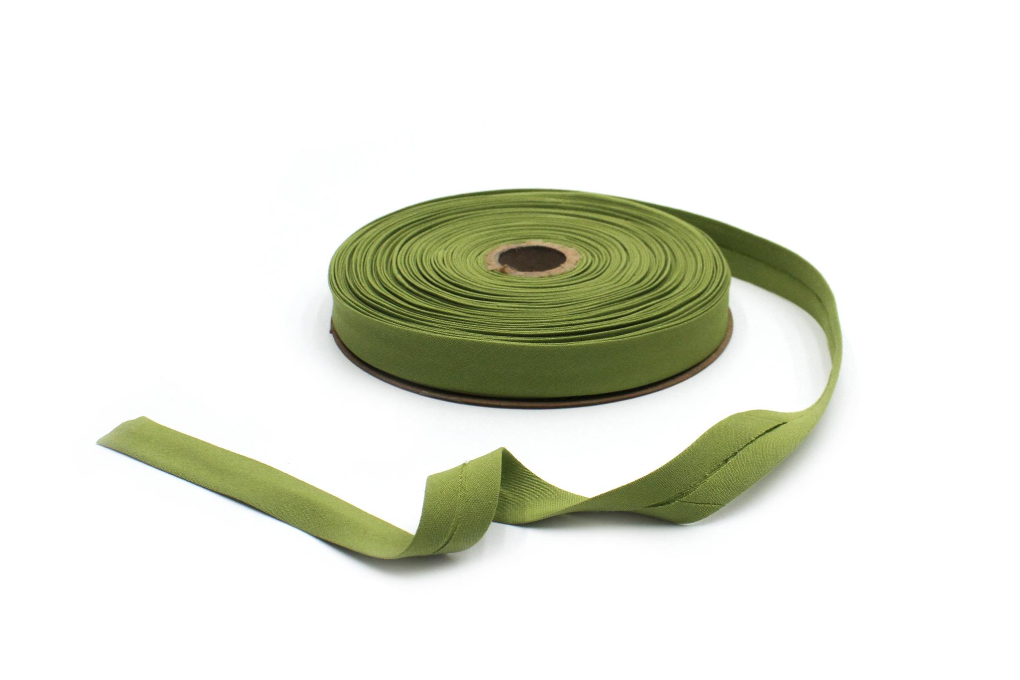 Бейка косая х/б,20 мм, зеленая трава