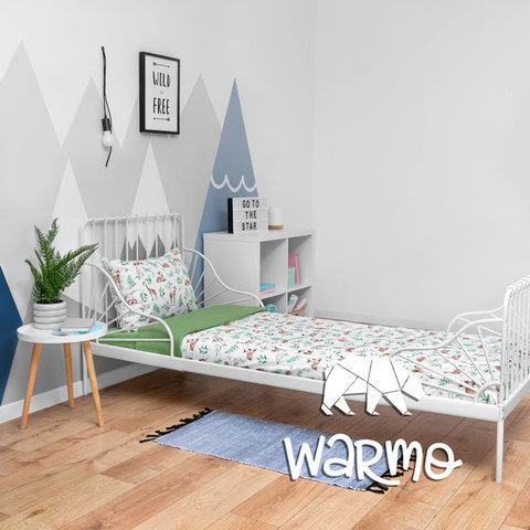 купити дитячу постіль з оленями на зеленому фото