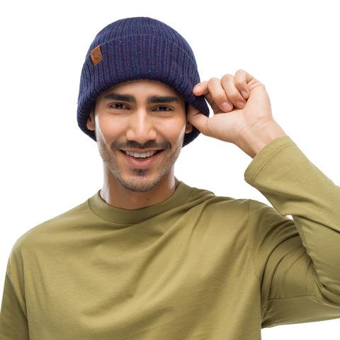 Вязаная шапка Buff Hat Knitted Kort Night Blue фото 2