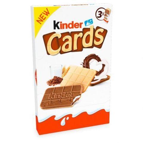 Шоколадно-молочное печенье Kinder Cards 76.8 гр