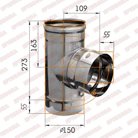 Тройник-К 90° d150мм (430/0,5 мм) Ferrum