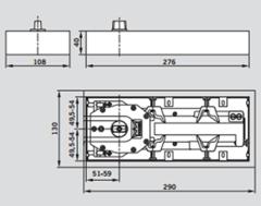 BTS 65 со шпинделем EN-3 Dormakaba