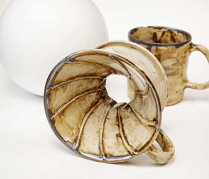 POSSET100-2 Набор керамики для заваривания кофе «Пуровер»: кружка и воронка дриппер фото 07