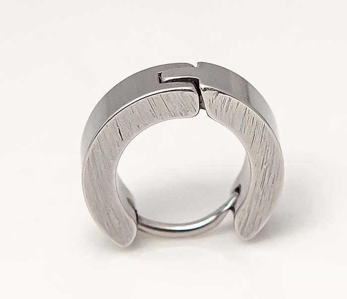 ER457-1 Мужские серьги кольца из стали фото 05
