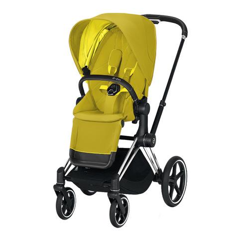 Прогулочная коляска Cybex Priam III Mustard Yellow Chrome Black