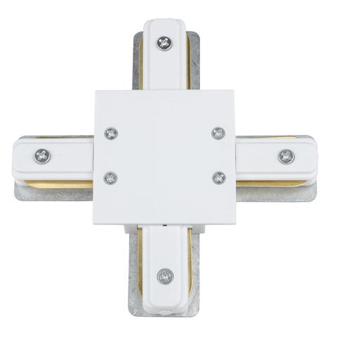 UBX-Q123 R41 WHITE 1 POLYBAG Соединитель для шинопроводов типа R, Х-образный. Однофазный. Белый. ТМ Vople