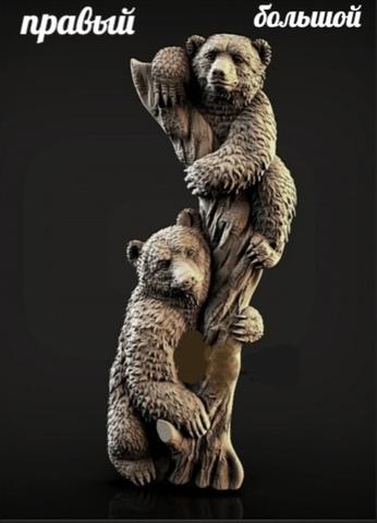 Силиконовый молд Медвежата ( молд правый ) большой