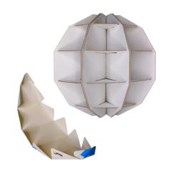 бумажный конструктор 3D пазл глобус раскраска Страны мира ТамТут