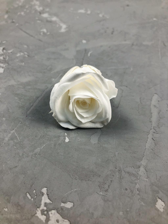 Роза классическая белая d=3-3,5 см Уценка