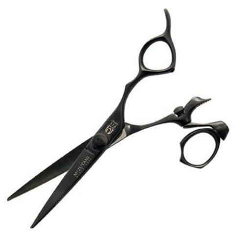 Профессиональные парикмахерские ножницы для стрижки Mizutani FIT Speed Star 5.5 black edition с поворотным кольцом