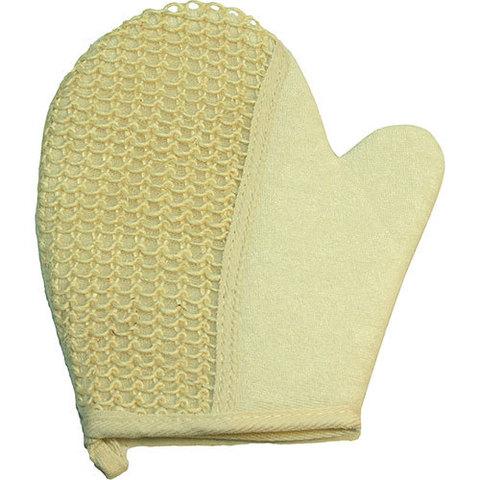 Мочалка-рукавица массажная из сизаля и хлопка