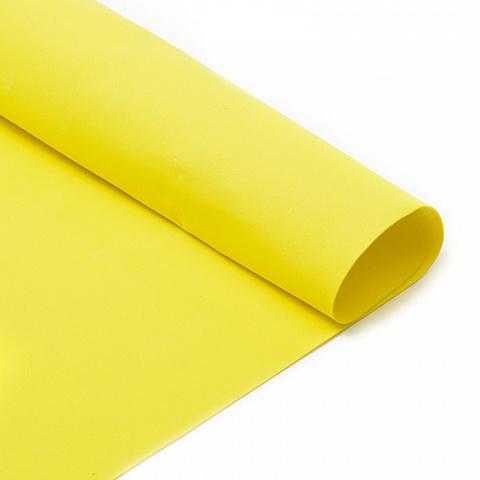Фоамиран 1мм, 50*50см, лимонный