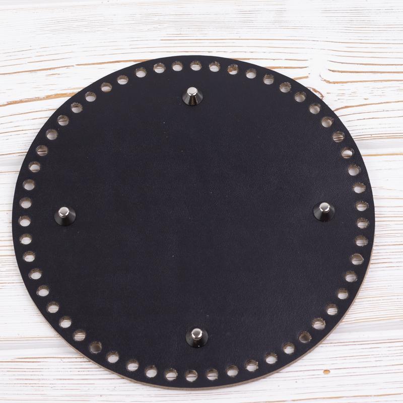 Вся фурнитура Дно черное круглое 200мм*4мм. Натуральная кожа IMG_6635.jpg