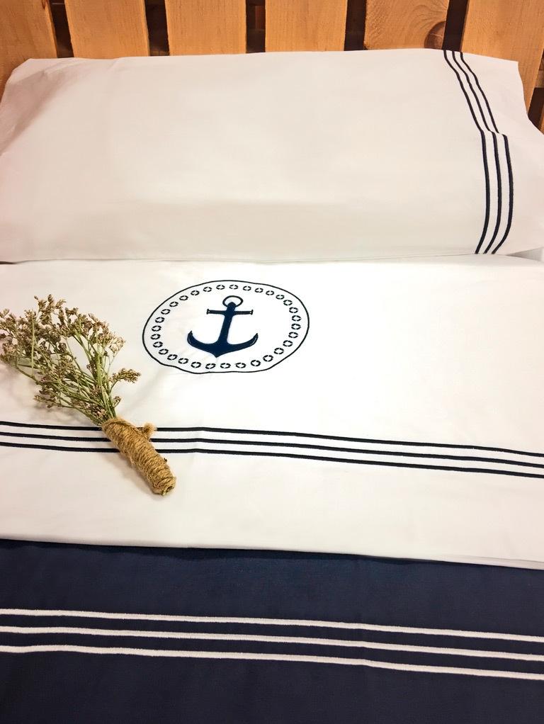 Santorini top sheet & pillowcase / single beige
