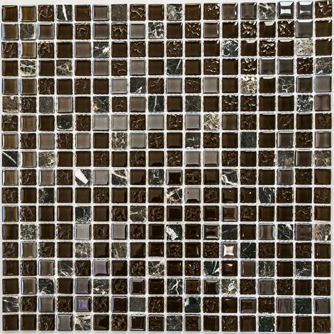 Мозаика стеклянная с камнем Alana 300х300мм (шт.)
