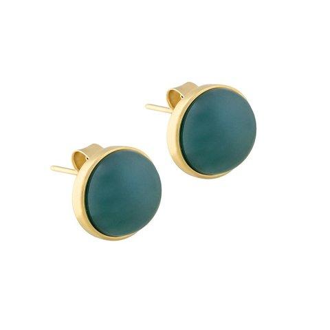 Пусеты Pearl Green Agate A1992.17 G/G
