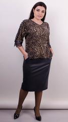 Мегги. Праздничный костюм для женщин больших размеров. Леопард беж.