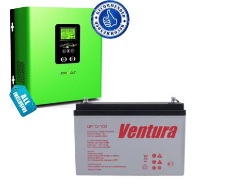 Комплект ECOVOLT TERMO 312+VENTURA GP 12-100