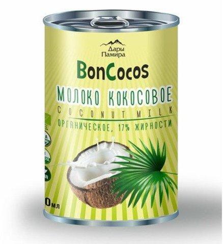 Молоко кокосовое BONCOCOS, органика, жирность 17%, 400мл, ж/б