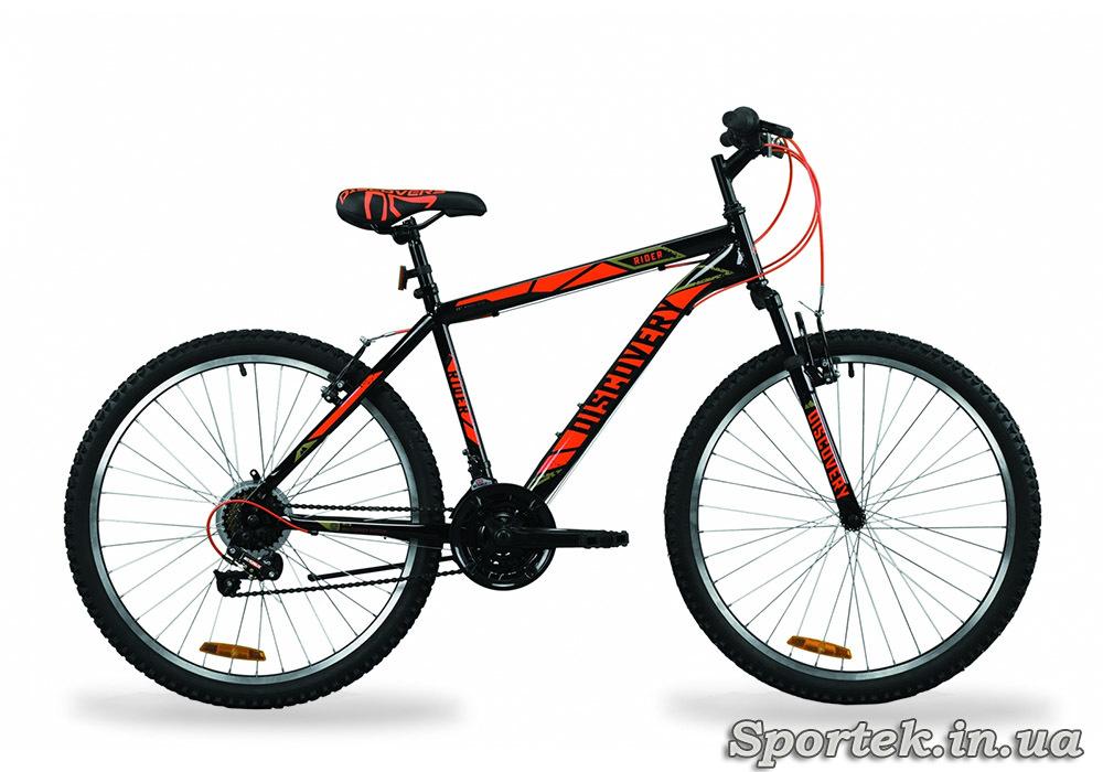 Горный универсальный велосипед Discovery Rider AM Vbr - черно-салатно-серый