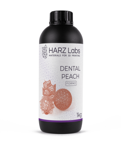 Фотополимер HARZ Labs Dental Peach Form2, персиковый (1000 гр)