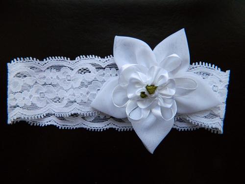 Повязка на голову с белым цветком, 2901