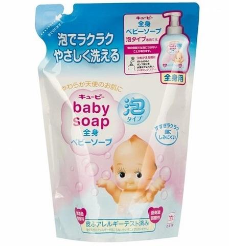 Детское пенящееся мыло Cow Brand для волос и тела  с увлажняющим эффектом без отдушек 350 мл