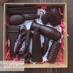 Пластиковая форма для шоколада ср. ПАРИКМАХЕР  9в1