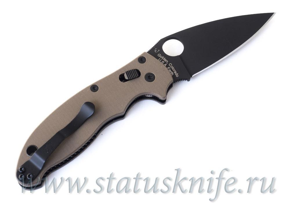 Нож Spyderco Manix 2 C101GPBNBK2 Earth Brown G-10 DLC M390 - фотография