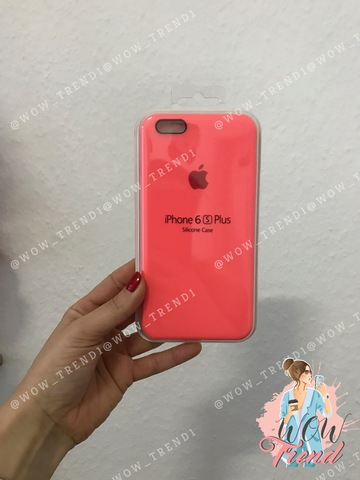 Чехол iPhone 6+/6s+ Silicone Case /coral/ коралл 1:1