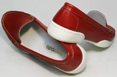 Туфли мокасины женские летние Evromoda 042.5710 WRed.