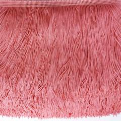 Купить бахрому розово-оранжевую Flamingo для украшения купальника недорого