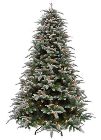 Triumph tree ель Нормандия пушистая (лампы) 2,15 м заснеженная