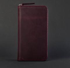Клатч-гаманець, натуральна шкіра