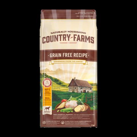 Country Farms Grain Free Recipe Сухой корм для взрослых собак, с высоким содержанием курицы беззерновой, полнорационный