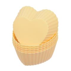 Миниформы из силикона «Сердечки» 6х6х2,5 см, 6 шт