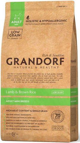 Grandorf Dog Mini сухой корм для собак мелких пород (ягнёнок с рисом) 1 кг