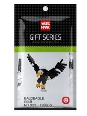 Конструктор Wisehawk & LNO Белоголовый орел 125 деталей NO. B23 Baldeagle Gift Series