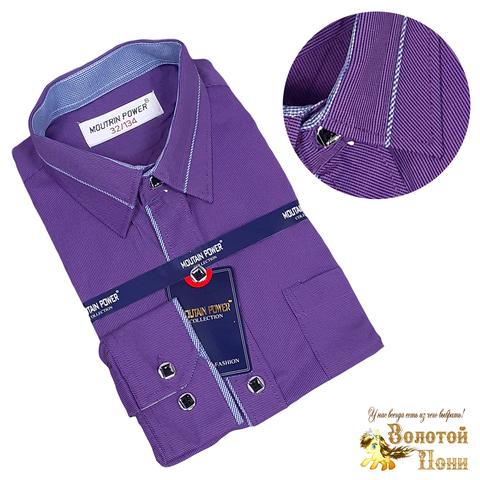 Рубашка рубчик мальчику (116-164) 210531-МР9641.2