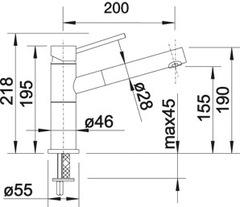 Смеситель Blanco ALTA-S Compact - схема