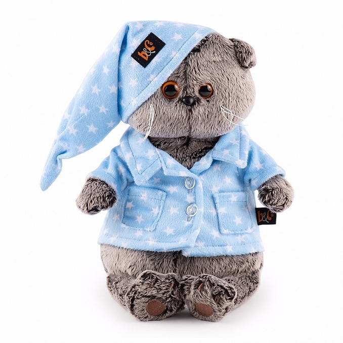 Кот Басик в голубой пижаме