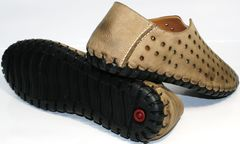 Мужские мокасины кожаные Luciano Bellini 107703 Beige.